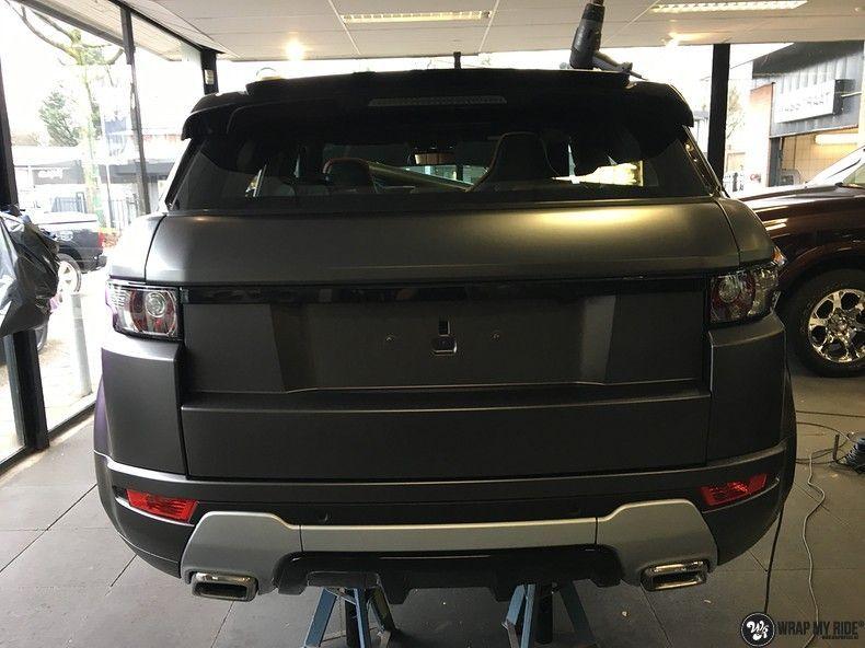 Range Rover Evoque Satin Dark Grey, Carwrapping door Wrapmyride.nu Foto-nr:11005, ©2021