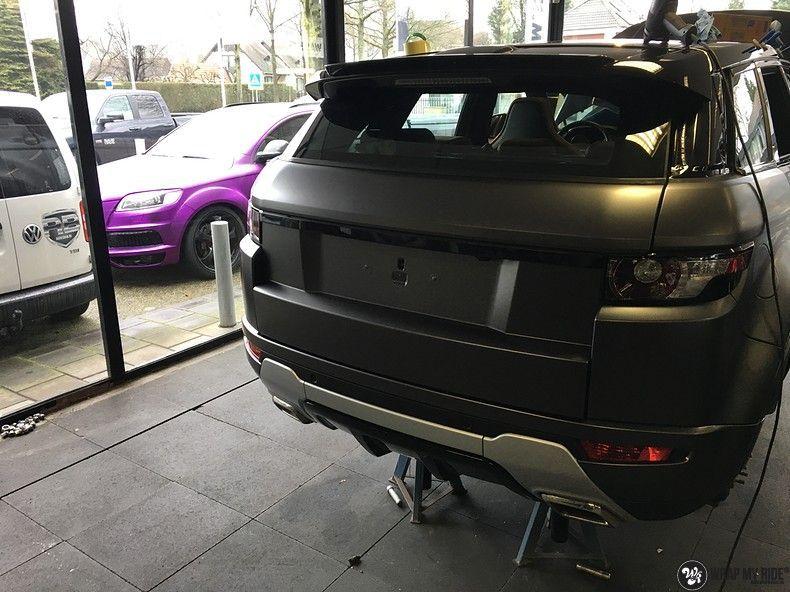 Range Rover Evoque Satin Dark Grey, Carwrapping door Wrapmyride.nu Foto-nr:11002, ©2021