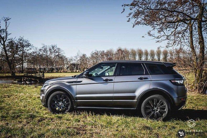 Range Rover Evoque Satin Dark Grey, Carwrapping door Wrapmyride.nu Foto-nr:11026, ©2021