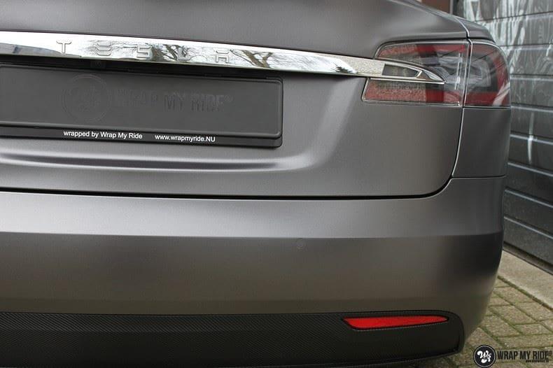 Tesla Model S Satin Dark Grey, Carwrapping door Wrapmyride.nu Foto-nr:9584, ©2021