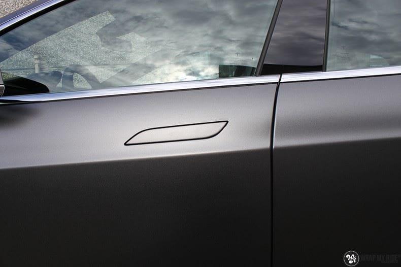 Tesla Model S Satin Dark Grey, Carwrapping door Wrapmyride.nu Foto-nr:9581, ©2021